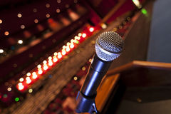 Mic on Podium Royalty Free Stock Images
