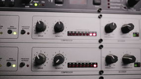 The mic preamp which is used in the radio studio stock footage