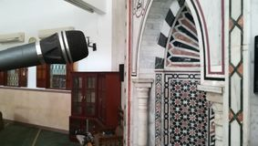 A mic in quibla. A mic at a mosaic quibla in an Egyptian mosque Royalty Free Stock Images