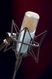 Mic on stage 1 Stock Image