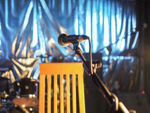 Mic on stage Stock Images