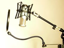 Mic on stand Royalty Free Stock Images