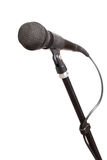 Mic stand. Isolated on white background Stock Photo