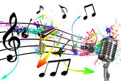 Miscela di musica Immagini Stock