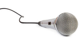 Mic on white background Royalty Free Stock Photos