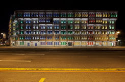 MICA Building in Singapore at night Royalty Free Stock Photo