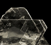 Mica. The muscovite (gypsum) in black stock photography