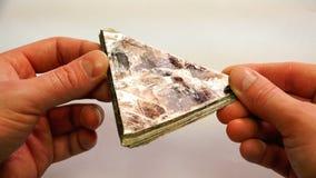 Mica rock-forming mineraal die tot de categorie van dioctahedral mica behoren stock video