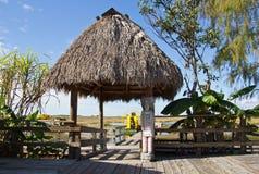 Miccosukee indiskt läger Royaltyfri Foto