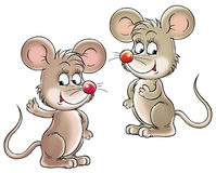 Mice. Isolated clip-art and children's illustration for yours design, postcard, album, cover, scrapbook, etc