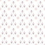 Mice. Seamless pattern of pink mice and pink circles on white background Royalty Free Illustration