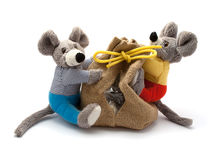 Mice with bag Royalty Free Stock Photography
