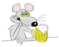 Mice and beer Royalty Free Stock Image