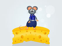 Mice on cheese Stock Images