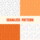Mice and cheese. Seamless pattern for textile and craft of mice and cheese. Set black and white, orange, blue on white Vector Illustration
