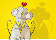 Mice couple in love Royalty Free Stock Photos
