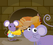 Mice eating Royalty Free Stock Images