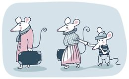 Mice Family Stock Images
