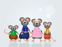 Mice family Royalty Free Stock Photography