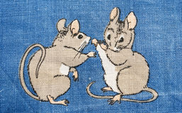 Mice fight Stock Images