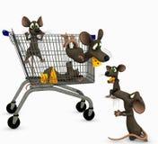 Mice go shopping Stock Photos