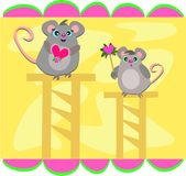 Mice on High Stands Stock Photos