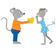 Mice in love Stock Photo