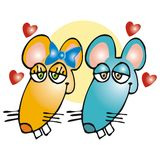 Mice in love Royalty Free Stock Photography