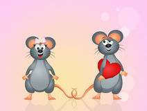 Mice in love Stock Photography
