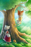 Mice in love in the forest Stock Images