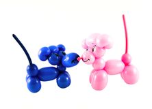 Mice made from balloons Stock Image