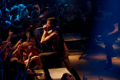 Of mice & men concert Lucerna Musicbar Praha Royalty Free Stock Image