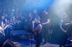 Of mice & men concert Lucerna Musicbar Praha Royalty Free Stock Photos