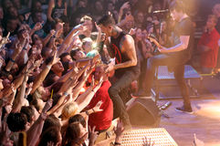 Of mice & men concert Lucerna Musicbar Praha Stock Image