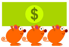 Mice money Royalty Free Stock Photography