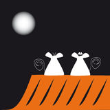 Mice and the moon Stock Image