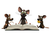 Mice storytime Stock Photography