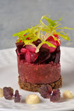 Miced meat with beetroot Stock Photo
