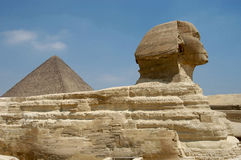 Micerino pyramid and the Sphynx Stock Image