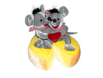 Mices on cheese. Loving eachother Stock Photo
