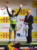 Michael Albasini vince il Volta un Catalunya Immagini Stock Libere da Diritti