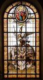 Stained glass window of church Royalty Free Stock Photos
