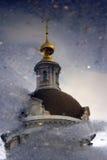 Michael archaniołowie kościelni w Kolomna, Rosja Wodny odbicie Fotografia Stock