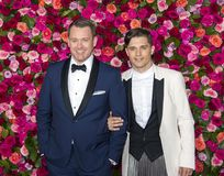Michael Arden and Andy Mientus at the 2018 Tony Awards Stock Images