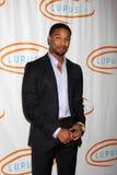 Michael B. Jordania llega la 12ma bola anual de la naranja del LA del lupus imágenes de archivo libres de regalías