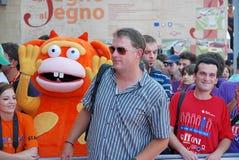 Michael Brandt al Giffoni Film Festival 2011 Stockfotografie