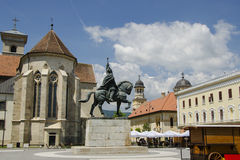 Michael the brave statue in alba iulia. Michael the Brave statue in the alba iulia old fortress city. During his reign, which coincided with the Long War, these royalty free stock image