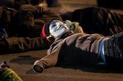 Michael Brown demonstranter Arkivfoto