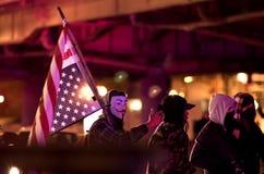 Michael Brown demonstranter Royaltyfria Bilder