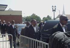 Michael Brown Funeral Images stock
